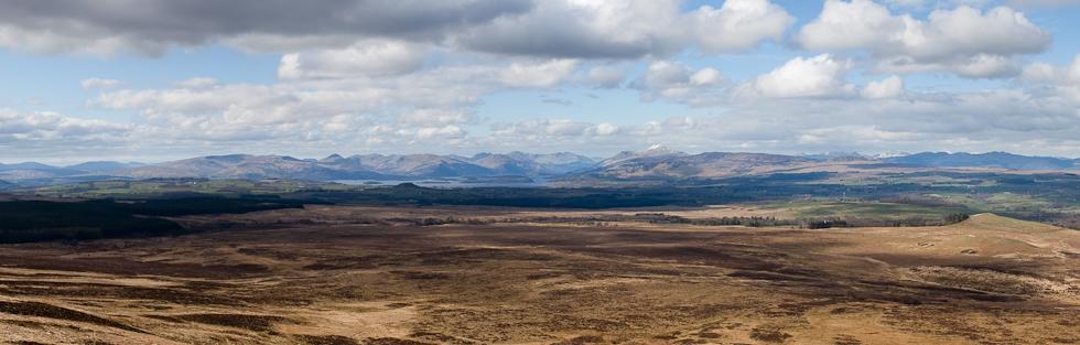 View over Stockie Muir to Loch Lomond